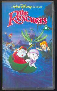 WALT DISNEY CLASSICS   THE RESCUERS   VHS PAL (UK)