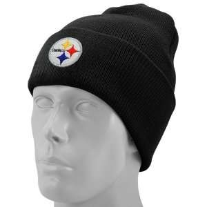 Reebok Pittsburgh Steelers Black Basic Knit Beanie