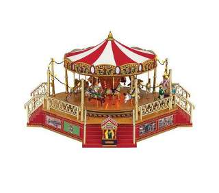 Mr. Christmas Worlds Fair Boardwalk Carousel   QVC