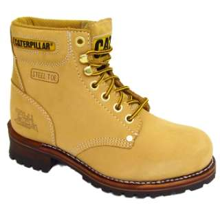 MENS HONEY TAN CATERPILLAR SEQUOIA CAT LEATHER SAFETY STEEL TOE WORK