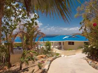 Chocolate Hole villa rental   Blue Agave with the Caribbean in the