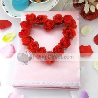 Wholesale Stereo Rose Heart Shaped Wedding Guest Book   DinoDirect