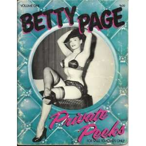 Betty Page Private Peeks Volume One (9780914646150