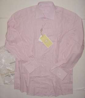 HARRY & SONS ITALY PINK WHITE DRESS SHIRT 15.5 x 39 NWT