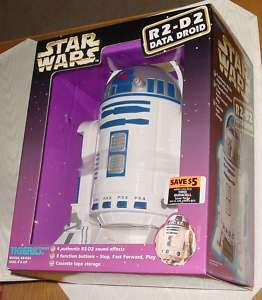 STAR WARS R2 D2 DATA DROID TAPE PLAYER TIGER ELECTRONIC