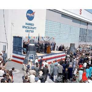 President John Kennedy Honoring John Glenn 8x10 Silver
