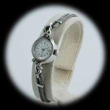 1960s 14k White Gold Bulova Watch w/23 Jewel Movement