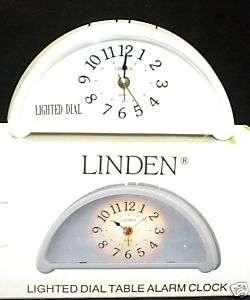Seth Thomas linden lighted dial table alarm clock