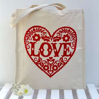 love heart tote bag by snowdon design & craft