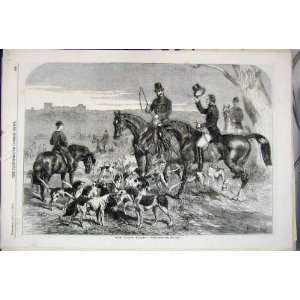 1856 Prince Albert Harriers Fox Hunting Horses Countr