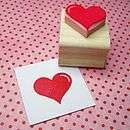 Valentines Heart Hand Carved Rubber Stamp   weddings sale