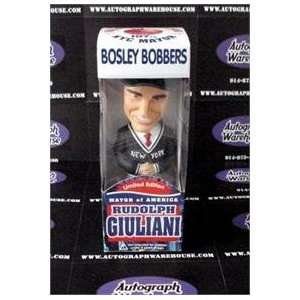 Rudy Giuliani Bobble Head Bosley Bobber   box in poor