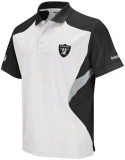 Oakland Raiders White 2011 Sideline Standout Polo Shirt