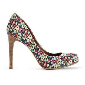 Jessica Simpson Calie Leather or Fabric Pump at HSN