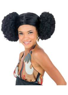 Afro Poof Wig Adult  Cheap Wigs Afros Halloween Costume for Hats