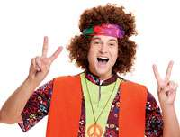 Hippie Fro Wig   Costume Wigs