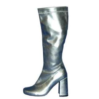 Stretch Go Go Boots Silver Women Ratings & Reviews   BuyCostumes
