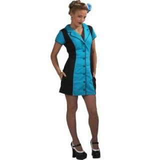 Retro Waitress Dress (Turquoise/Black) Adult   Costumes, 27347