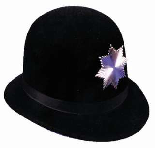 High quality black derby. Metal badge with screw attachments for