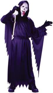 Black robe with long scallop sleeves and non bleeding mask. One size