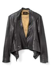 Vivienne Westwood Anglomania  Black Bounty Leather Jacket by Vivienne