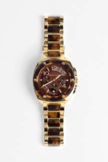 Watches  Tortoishell & Gold Chronograph Watch by Michael Kors Watches