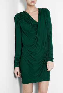 Malene Birger  Peacock Green Nahuda Jersey Drape Dress by By Malene