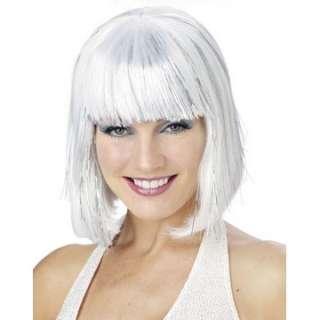 white shimmering bob wig female costume wigs regular $ 10 99 price $ 8