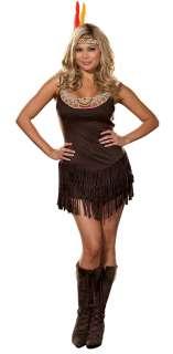 Pocahottie Plus Adult Costume   Includes Dress, Headpiece. Shoes not