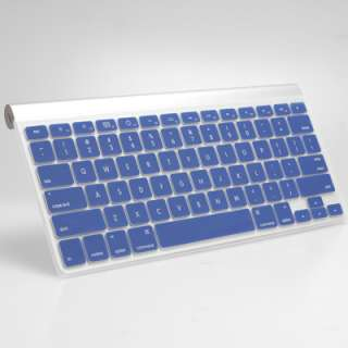 Blue Rubberized see through Macbook Pro Case with Blue Keyboard Cover