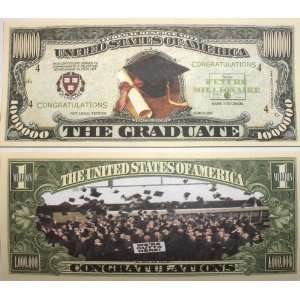 Set of 10 Bills Graduation Million Dollar Bill: Toys & Games