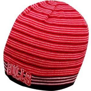 NBA adidas Chicago Bulls Red Vibe Striped Cuffless Knit