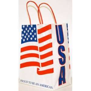 19 inch Extra Large American Flag Gift Bags Patio, Lawn & Garden