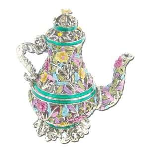 Swarovski Crystal Pave Antique Green Jeweled Tea Pot GAD690 GN