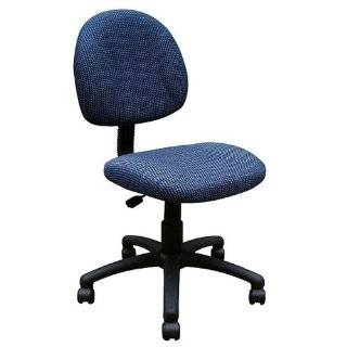 Boss Fabric Deluxe Posture Armless Task Chair, Blue