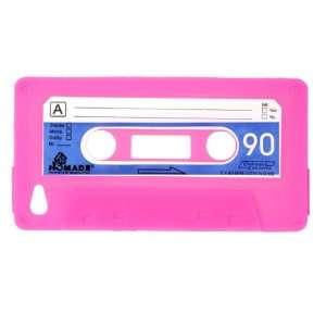 Hot Pink Cassette Tape Design Soft Silicone Skin Gel Cover Case