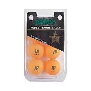 Prince(r) 3 Star Orange Table Tennis Ball 6 Pack