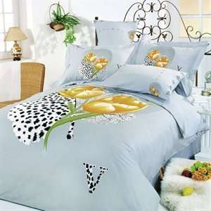 Duvet Cover Bed in Bag Full Queen Bedding Gift Set [Kitchen] Beauty