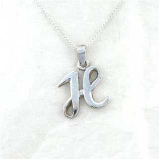 Sterling Silver Initial Charm Necklace, Letter H Clothing