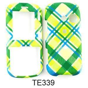 LG Rumor 2 LX265/Cosmos VN250 Green and Blue Plaid Hard Case,Cover