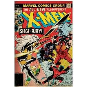 Marvel Comics Retro The X Men Comic Book Cover #103 with