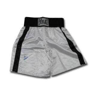 Ali Black and White boxing trunks