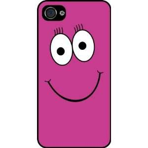 Pink Cheeky Smiley Face Rubber Black iphone Case (with bumper) Cover