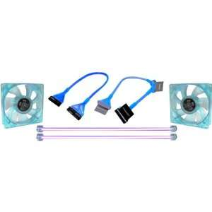 Tube UV CCfl Light Fans Floppy And ATA133 Cable   T50509 Electronics