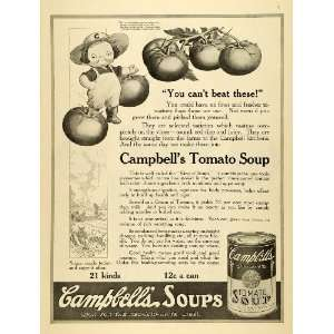 1918 Ad Canned Campbells Tomato Soup Vegetable Gardner