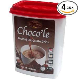 King David Kosher Instant Hot Chocolate Mix Drink (Pack of 4)
