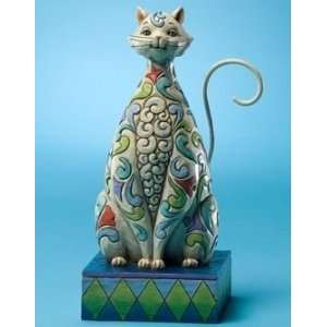 Enesco Jim Shore Windsor White Kitty Cat Figurine: Everything Else