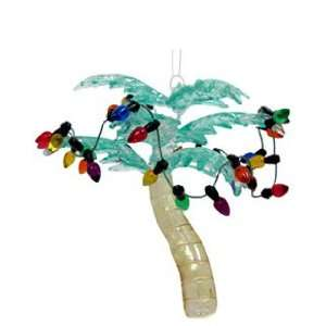Palm Tree with Lights Christmas Ornament