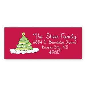 Scallop style Christmas Tree return address labels Labels