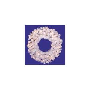 Crystal White Spruce Artificial Christmas Wreath   Cl